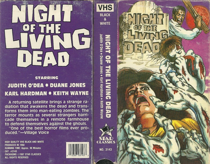 Night of the Living Dead VHS cover