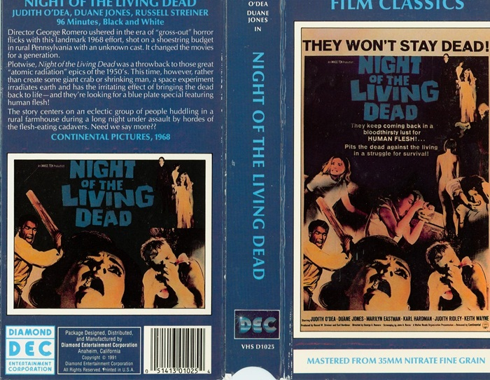 Night of the Living Dead VHS
